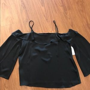 1. State black blouse - off the shoulder! New!